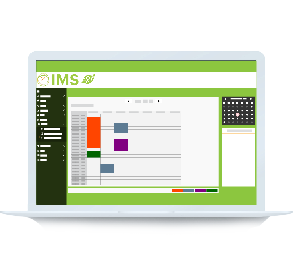 IMS Spa Software Booking View 2