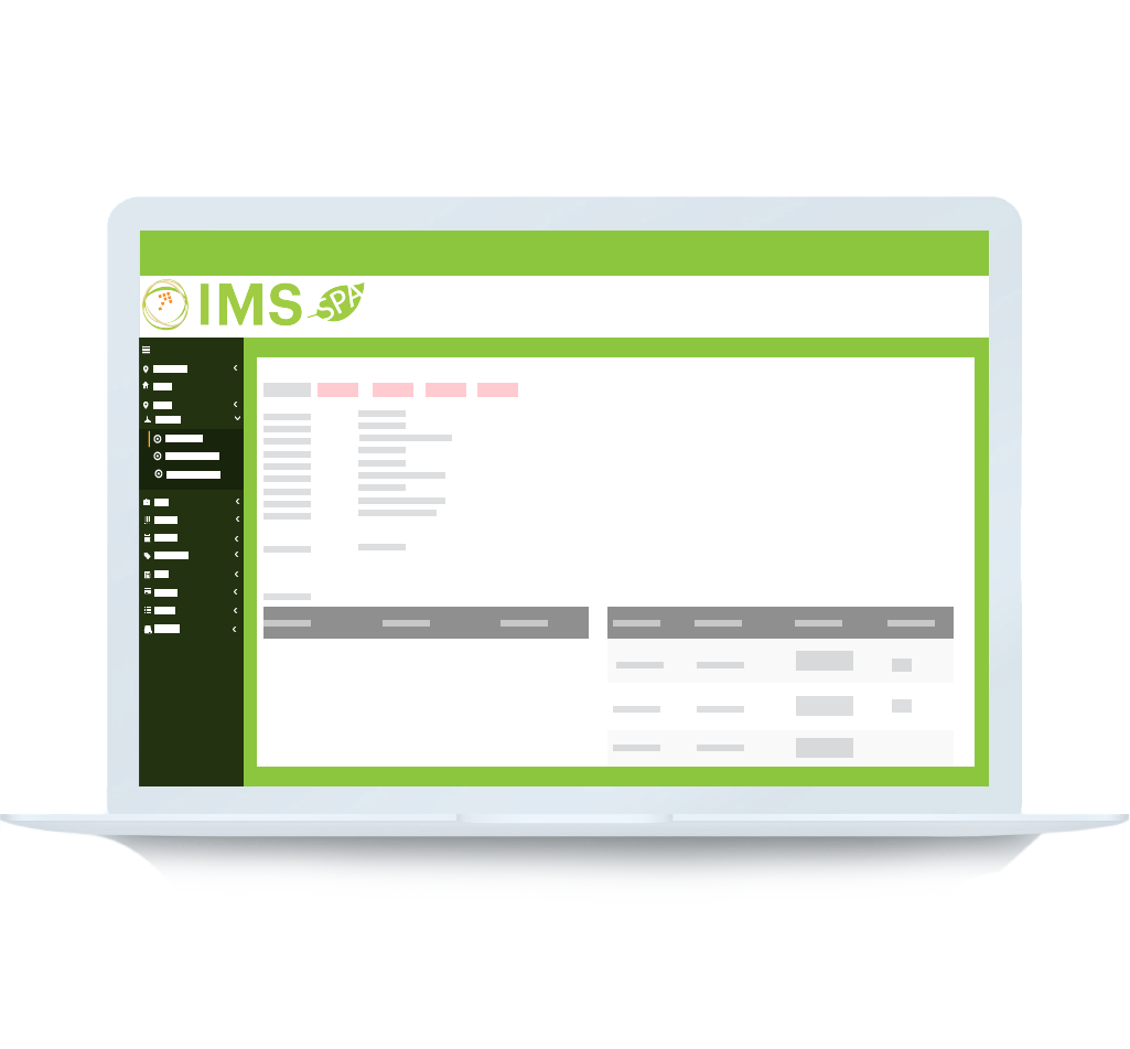 IMS Spa Software Booking View